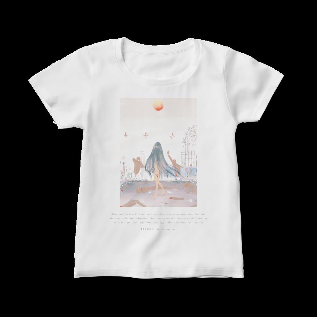 【BOOTH|Tシャツ】鳴神月りあ|秘密の記録|White rose princess 他